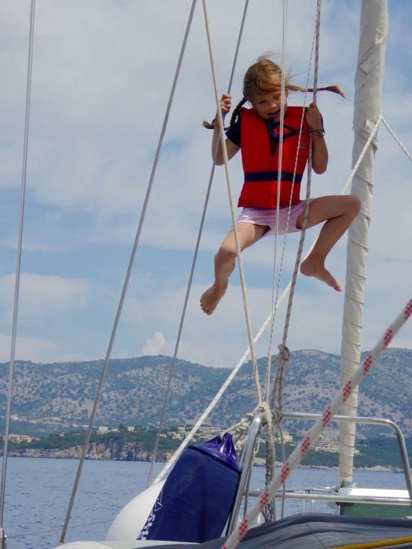 Segeln in Korfu mit Kindern