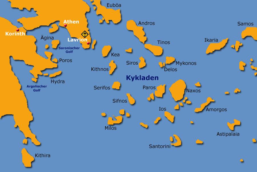 Kykladen Karte.Mitsegeln In Griechenland Segelurlaub Auf Der Segelyaht Jojoba