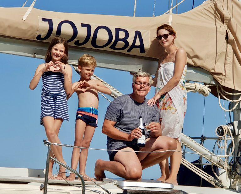 Die Taufe der Segelyacht JOJOBA